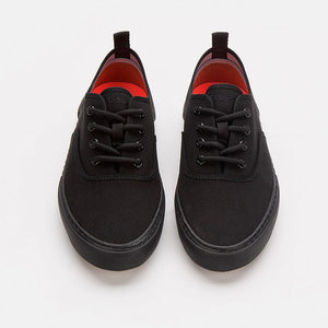 Black on Black Low Cut Sneaker - Luigi Sardo