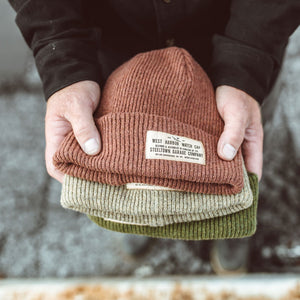 Merino Wool Watch Cap - Moss