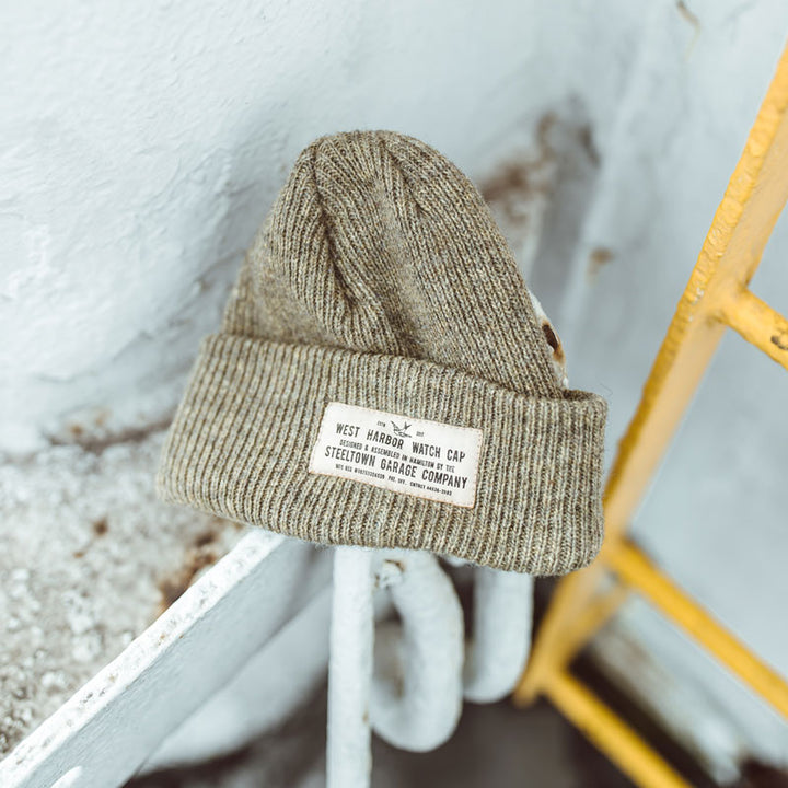 Merino Wool Watch Cap - Wheat