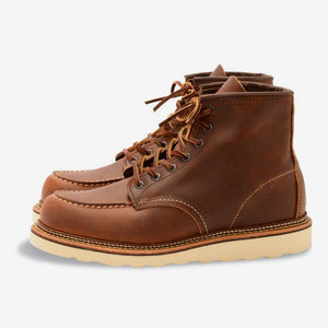 Red Wing Classic Moc Toe Copper Leather Boots - Style 1907