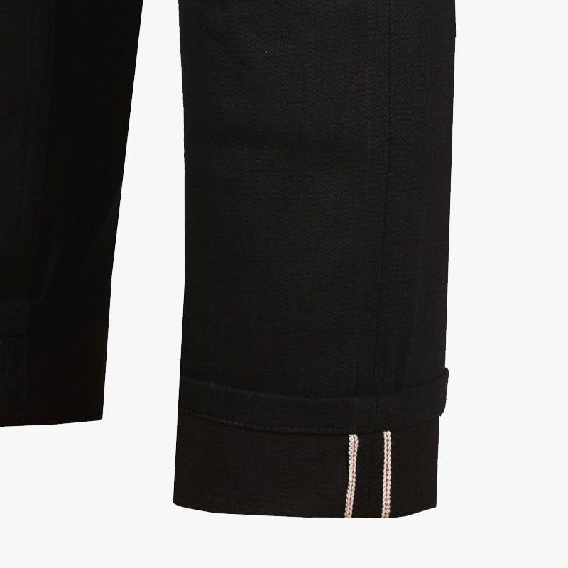 Selvedge Denim Kevlar Riding Jeans - Raw Black - Skinny Fit