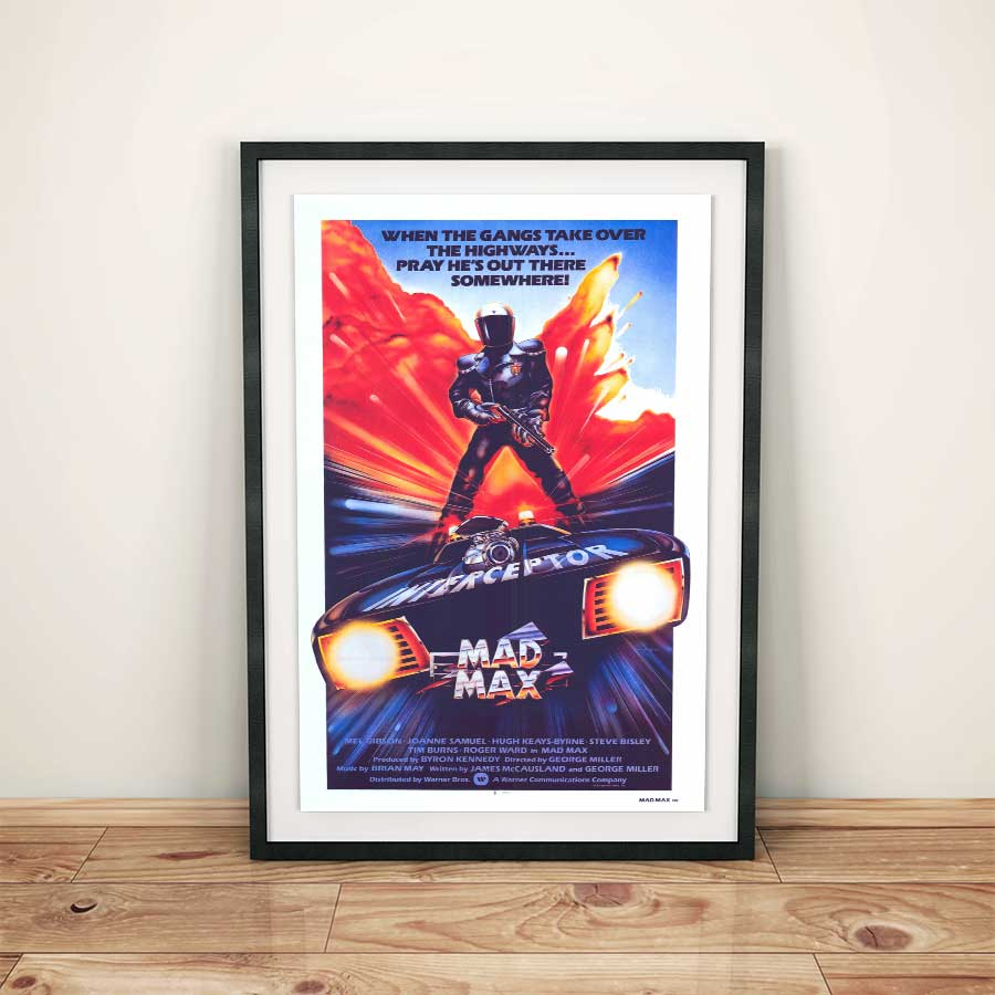 Retro Mad Max Movie Poster
