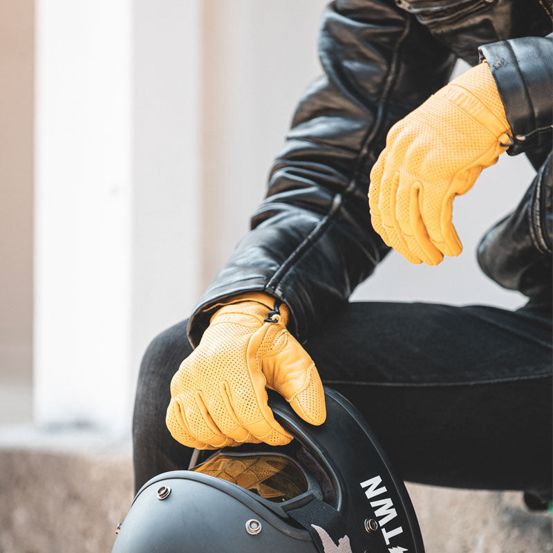 Steeltown Armoured Riding Gloves - Gold