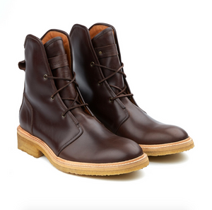 Francesco Oxblood & Crepe Leather Boots - Luigi Sardo