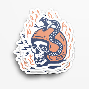 Snake & Helmet Sticker
