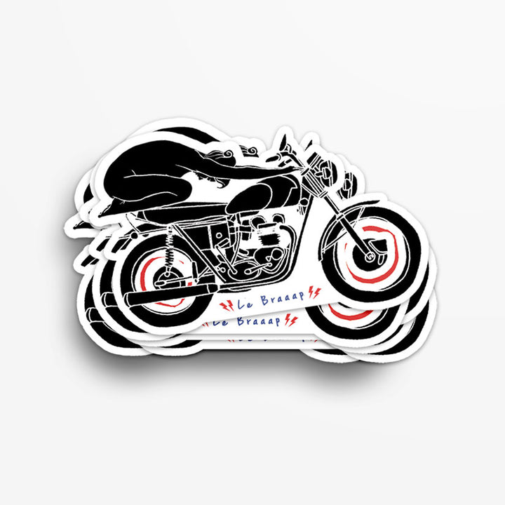 Le Braaap Vintage Motorcycle Sticker