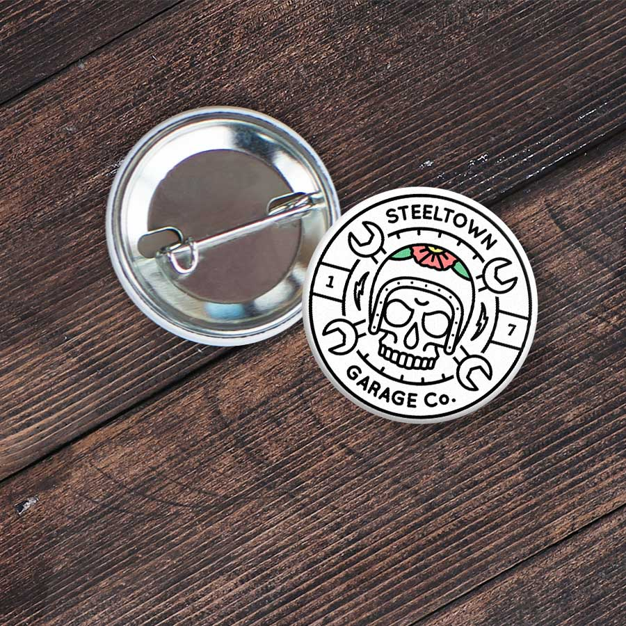 Steeltown Garage Co. Logo Button