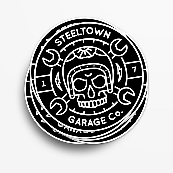 Steeltown Garage Co. Logo Sticker