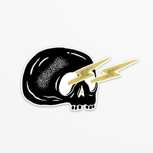 Skull & Lightning Bolt Sticker