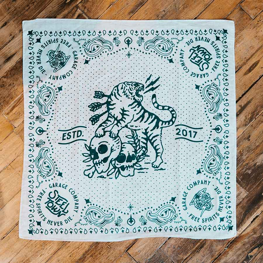Tiger & Skull Cotton Bandana