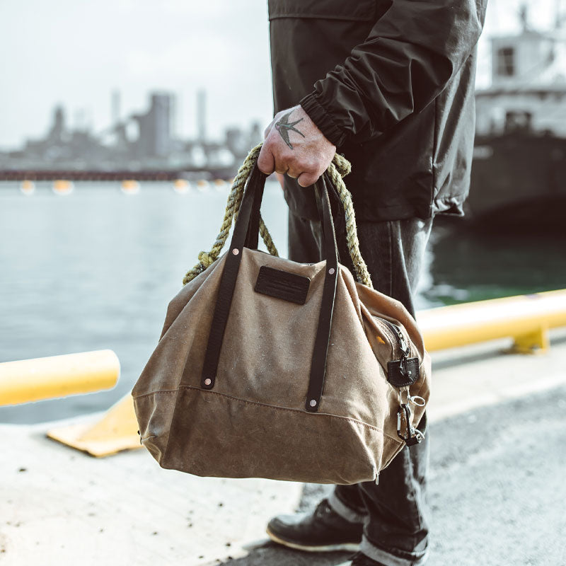 Waxed Canvas Track Bag