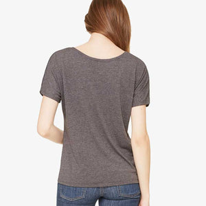 Women's Grey Scoop Neck Tee