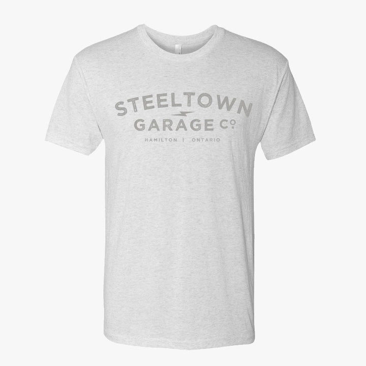 Vintage Logo Tee Heathered White