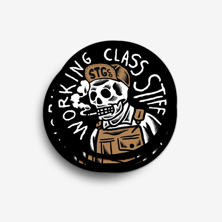Working Class Stiff Sticker