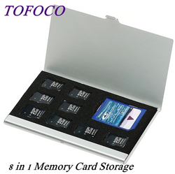 8 in 1 Portable Aluminum  Memory Card Storage Case