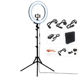 "Photo/Studio 18"" 55W 240 LED Ring Light with Tripod Stand"