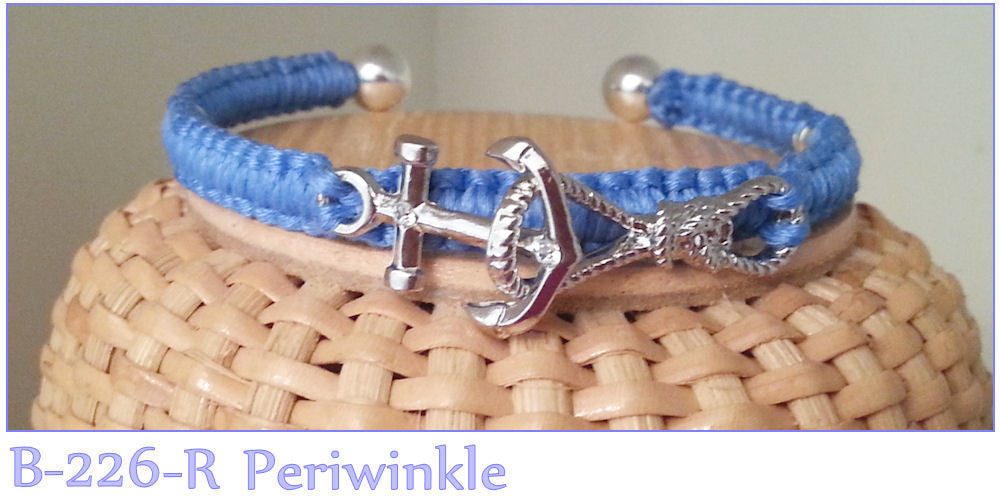 Anchor and Rope Bracelet