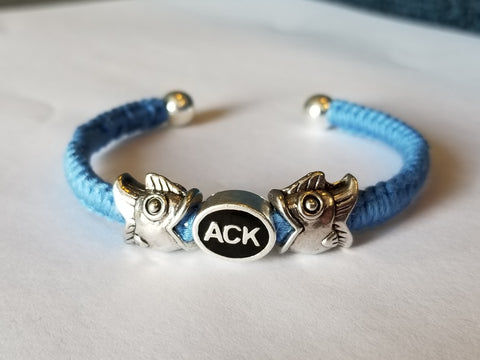 "Boceans ""Fun With ACK"" Nantucket Location ID Bracelet With Fish Accents - Boceans of Cape Cod"
