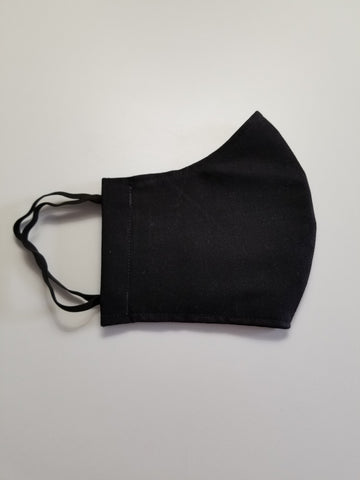 Protective Face Mask - Black Fabric - Boceans of Cape Cod