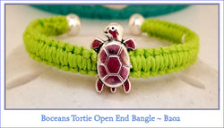 Boceans Tortie Open Ball End Bangle ~ B202 - Boceans of Cape Cod