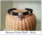 Boceans Pirate Skull ~ B224 SIZE LARGE DISPLAY MODEL  CLEARANCE - Boceans of Cape Cod