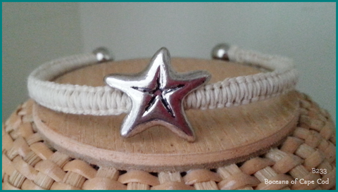 Bocean's Star of the Sea Ball End Bangle Bracelet ~ B233 - Boceans of Cape Cod