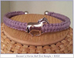 Boceans Horse Ball End Bangle~ B302 - Boceans of Cape Cod
