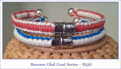 Boceans Glad Grad Diploma Cuff With School Colors~B330 - Boceans of Cape Cod