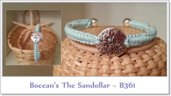 Bocean's Sandollar Bangle ~ B361 - Boceans of Cape Cod