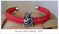 Bocean's Little Ladybug Cuff Bracelet ~B378 - Boceans of Cape Cod