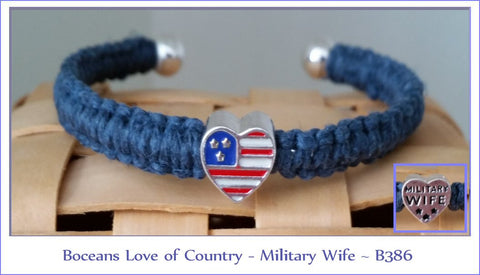 Boceans Love of Country - Military Wife Bracelet ~ B386 - Boceans of Cape Cod