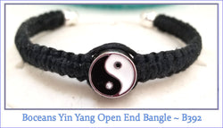 Boceans Yin Yang Open End Bangle ~ B392 - Boceans of Cape Cod