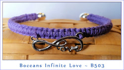 Boceans Infinite Love Cuff Bracelet ~ B503I - Boceans of Cape Cod