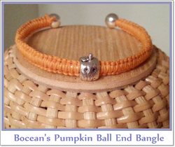 Bocean's Ball End Pumpkin Bangle B220 - Boceans of Cape Cod