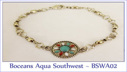 Boceans Aqua Southwest Barrel Swivel ~ BSWA02 - Boceans of Cape Cod