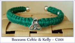 Bocean's Celtic & Kelly (Green) Cuff Bracelet - C001 - Boceans of Cape Cod