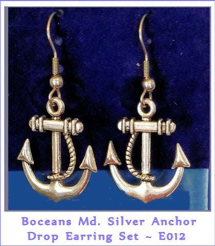 Boceans  Md Maritime Anchor Earrings ~ E012 - Boceans of Cape Cod