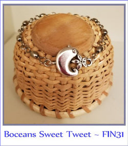 Boceans Sweet Tweet Bracelet & Flower ~ FIN31 - Boceans of Cape Cod