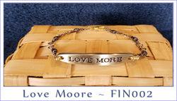 More Love ~ FIN002  Brass & Gun Metal Finish - Boceans of Cape Cod