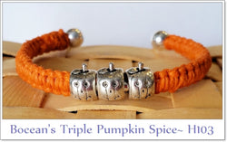 Bocean's Triple Pumpkin Spice Bangle H103 - Boceans of Cape Cod