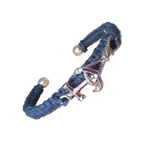 Boceans Dockside Series Anchor & Rope Periwinkle Blue ~ D361 - Boceans of Cape Cod
