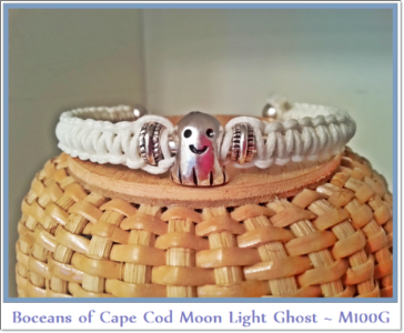 Bocean's Moonlight Ghost ~ M100G (Glow in the Dark) white micro para cord - Boceans of Cape Cod