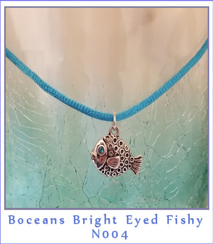 Boceans Bright Eyed Fishy Necklace~N004 - Boceans of Cape Cod