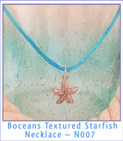 Boceans Large Textured Starfish Necklace~N007 - Boceans of Cape Cod
