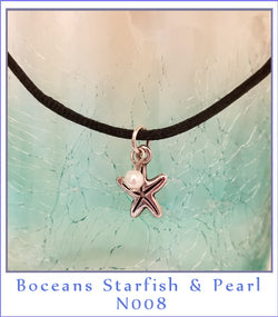 Boceans Starfish & Pearl Necklace ~N008 - Boceans of Cape Cod