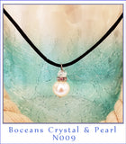 Boceans Crystal & Pearl Necklace ~N009 - Boceans of Cape Cod