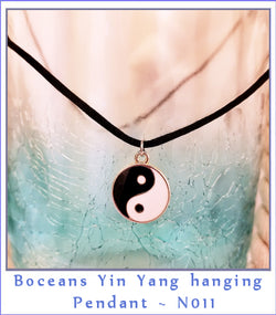 Boceans Yin Yang Pendant Necklace ~ N011 - Boceans of Cape Cod