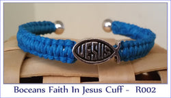 Boceans Faith In Jesus Cuff Bracelet- Roo2 - Boceans of Cape Cod