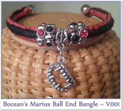 Bocean's Marius Ball End Bangle ~ V001 - Boceans of Cape Cod