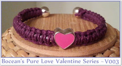Boceans Pure Love Valentine Series Ball End Bangle ~ V003 - Boceans of Cape Cod